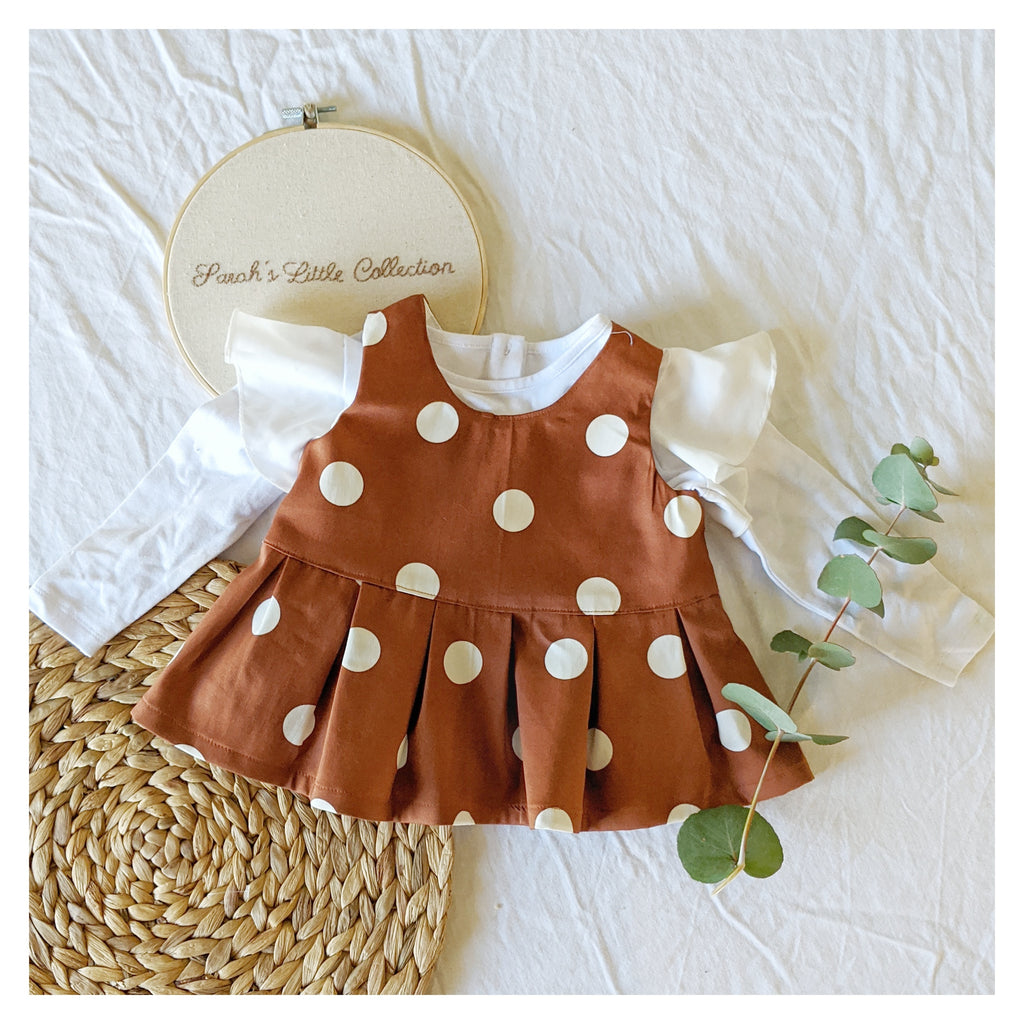 Polka Dot Sleeveless Ruffle Top
