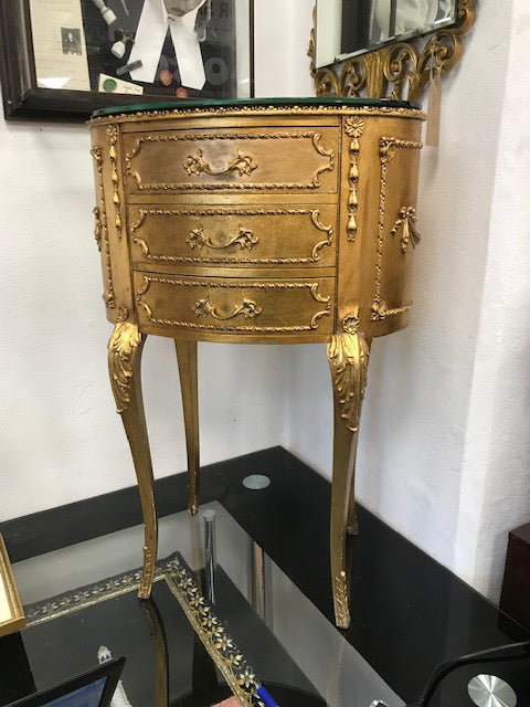 Antique French Gold Bedside Table - Room for Antiques
