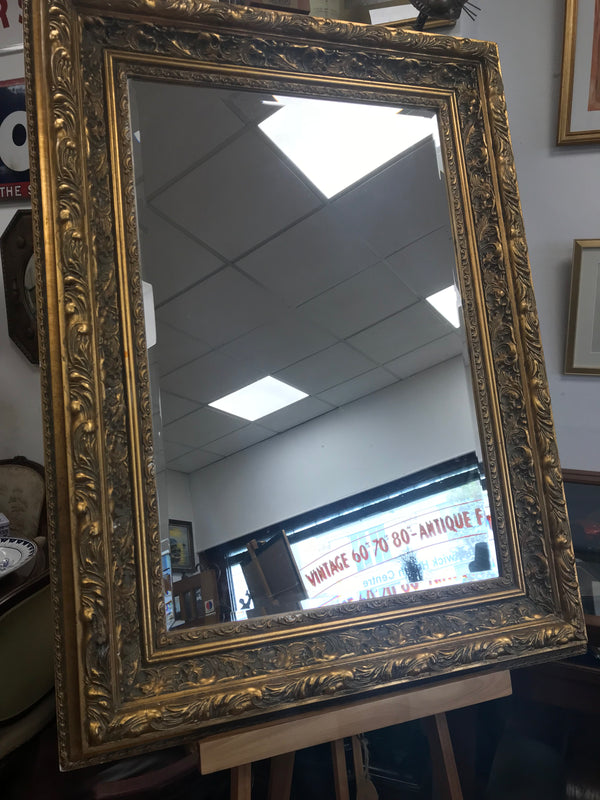 Gilt Framed Bevelled Mirror - Room for Antiques