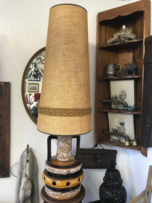 German Lamp Base and Shade - Room for Antiques