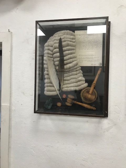 Judges Wig in Glass Case - Room for Antiques