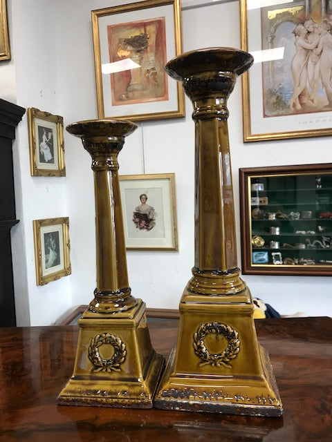 Pair of Candle Pillars - Room for Antiques