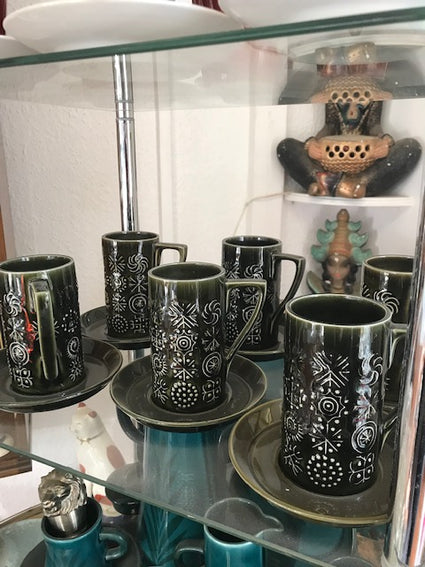 Set of Six Coffee Cups - Room for Antiques