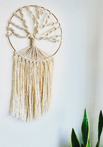 "Handcrafted Macramé ""Tree of Life"" Wall Hanging"