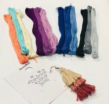 Load image into Gallery viewer, *FG Fundraiser* Adorable stacked tassel earrings with SHIPPING Included!