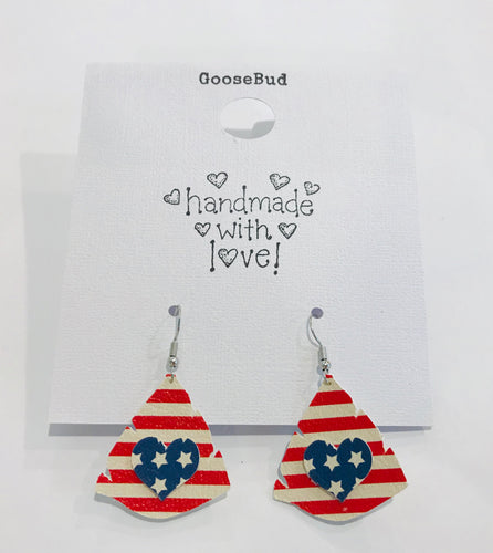 *FG Fundraiser* Stars and Stripes Earrings with SHIPPING Included!