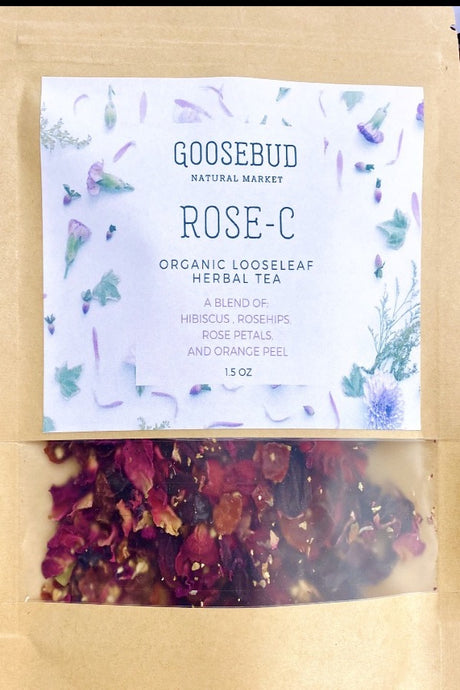 ROSE-C Organic Hibiscus Rose Loose Leaf Tea