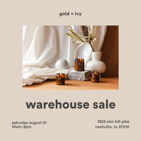 gold and ivy warehouse, seconds, sample sale
