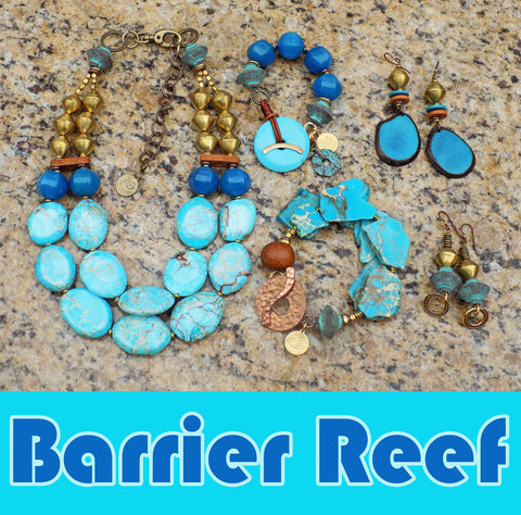 New Barrier Reef Collection of Blue and Brown Jewelry