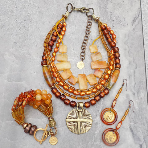 Stunning and elegant amber statement jewelry