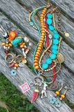 Amazing Tibetan-Inspired Turquoise, Coral and Amber Tribal Jewelry Collection