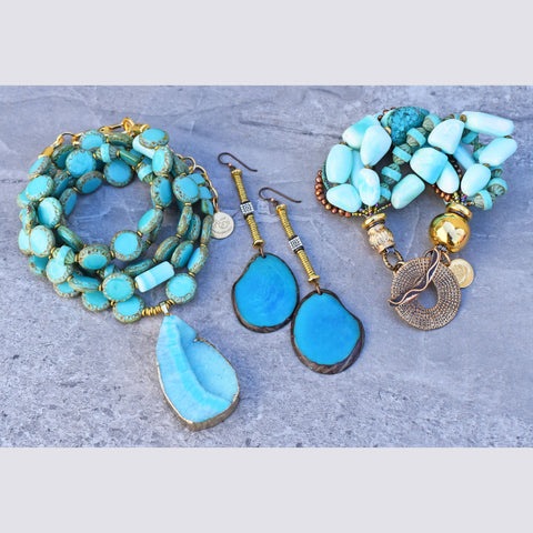 Fantastic Summer Blue Jewelry Collection