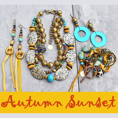 More Hot Off the Bench! Autumn Sunset Colors of Fall Jewelry Collection