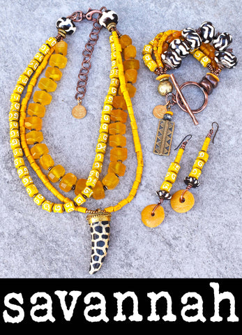 Get Your SUNSHINE and HAPPY on with this Soulful YELLOW African-Inspired Jewelry Collection