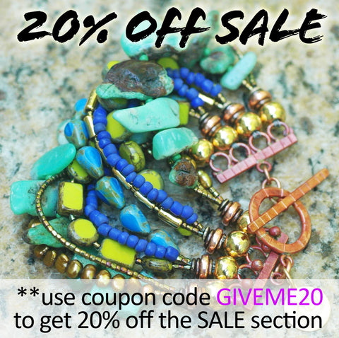 20% OFF SALE on All Jewelry in my SALE Section!!
