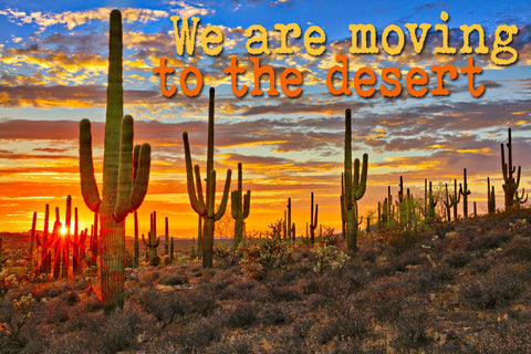 We are moving to the desert!