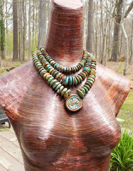Stunning turquoise statement necklaces