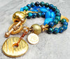Gorgeous Blue and Gold bracelet