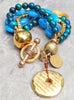 gorgeous resortwear blue and gold bracelet