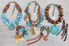 Gorgeous Icy Turquoise Blue and Exotic Brown Jewelry Collection