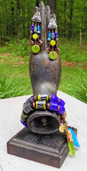 Island Tribal Bold Cobalt, Lime & Turquoise Bohemian Summer Jewelry