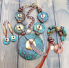 Beautiful Bold Turquoise Statement Jewelry Turquoise Gold Copper