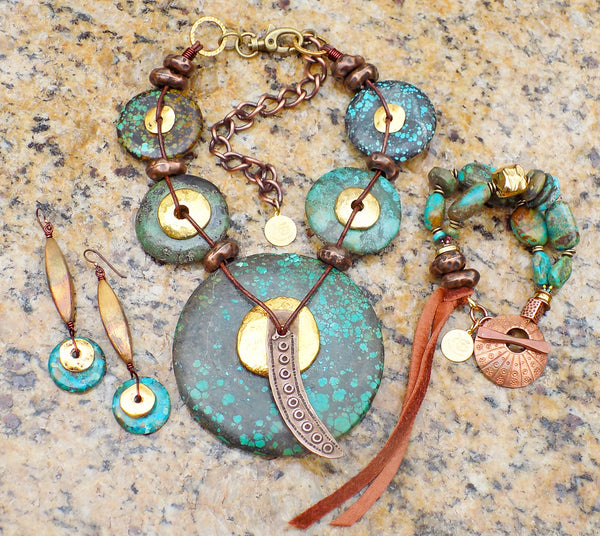 Stunning Natural Turquoise Statement Jewelry