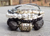 Captivating Gray, Charcoal, Silver and Black Statement Bracelet