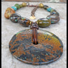 Bold and Gorgeous Mixed Turquoise Stone and Disc Statement Necklace