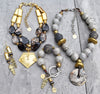 stunning black, gold and gray statement jewelry for winter