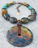 Enchanting and Bold Mixed Turquoise Stone and Disc Statement Necklace