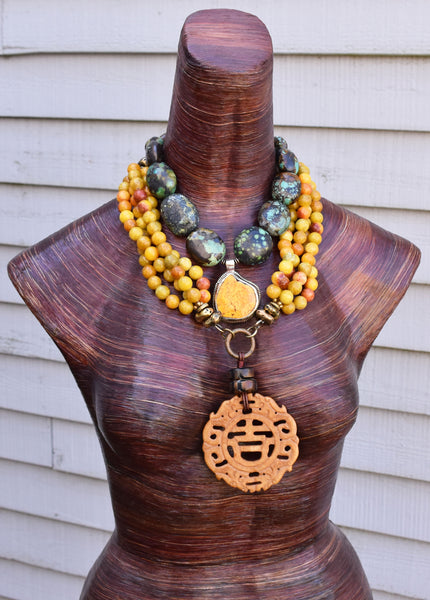ethnic and exotic tibetan inspired necklaces, asian-inspired necklaces