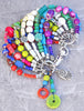 Custom Colorful Bohemian Gypsy Hippie Artisan Charm Bracelet