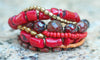 Red Coral Bracelet | Red Glass Bracelet | XO Gallery