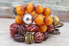 Beautiful and Exotic Fall Color Bracelets, Tibetan and Spanish Style Bracelets, Burgundy and Amber