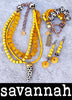 Bright Yellow, Black and White African-Inspired Animal Print Jewelry Collection