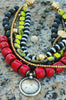 Red, Green, Black and Gold Necklace | XO Gallery