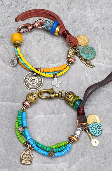 Soulful and Fun Boho Tribal Everyday Charm Bracelets