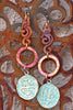 Unique Carved Jade Dragons, Copper Rings and Verdigris Coin Earrings