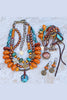 Bold and Exotic Tibetan Inspired Amber and Turquoise Jewelry Collection