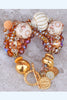 Glitz and Glam Topaz, Cream, Crystal and Gold Cross Boho Chic Bracelet