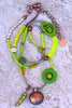 Fun and Funky Bohemian Citrus Neon Lime Green Necklace