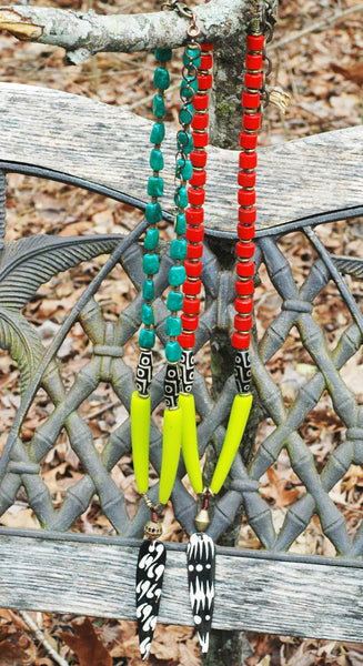 exotic and bold tribal arrowhead necklaces