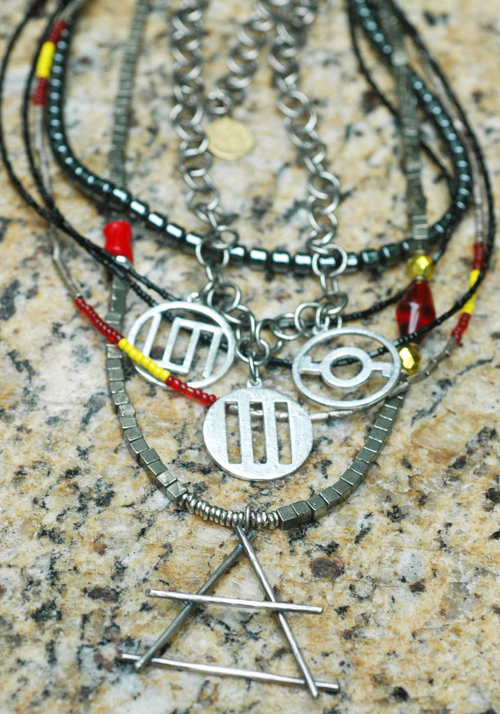 30 Seconds To Mars Jewelry With Band Symbols Air Element Pendant