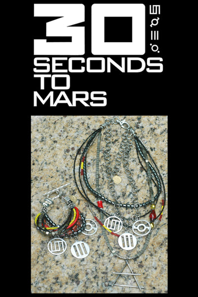 30 Seconds to Mars Jewelry with Band Symbols & Air Element Pendant