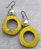 customized pangi seed earrings with silver bead rather than ring