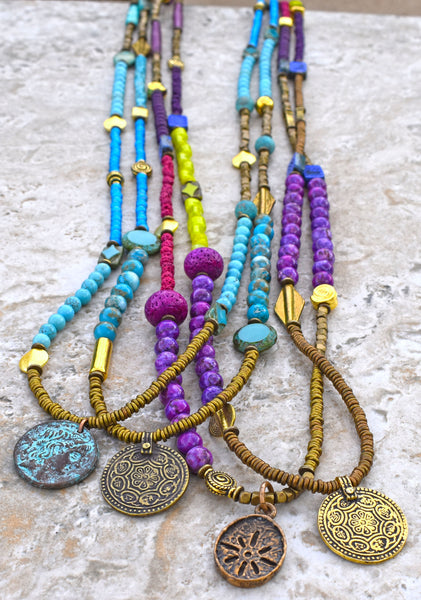 long boho pendant necklaces