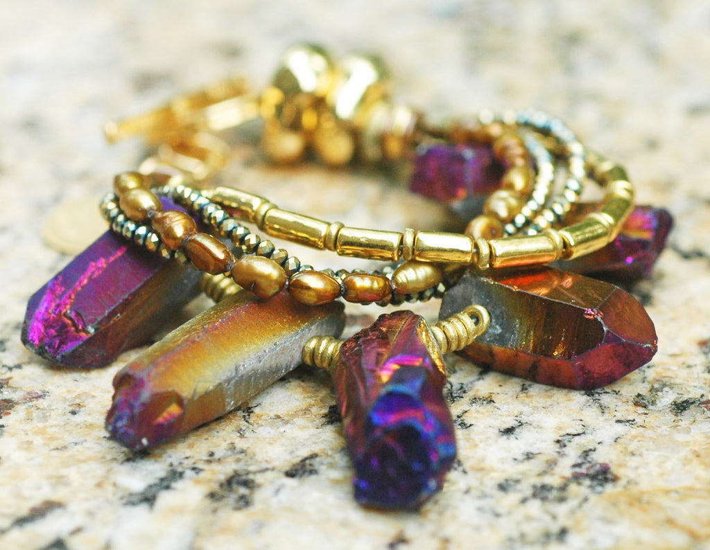 clothed product lightbox purple stone bracelet in disciple