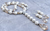 Pearl, Crystal and Silver Rhinestone Wedding Necklace and Earrings