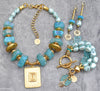 Ice Ice Baby: Gorgeous Mystical Icy Blue Quartz and Gold Jewelry
